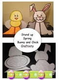 Stand up Spring Bunny and Chick Craftivity