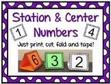 Standable Station & Center Number Signs