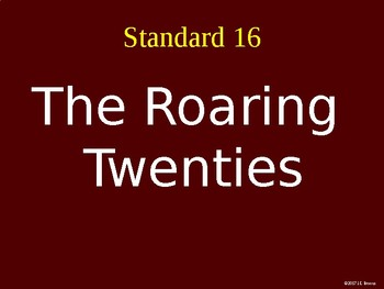 Standard 16 (The 1920's, Roaring 20's) GSE