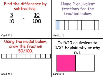 Standard 4.NF.5 Adding & Subtracting Fractions