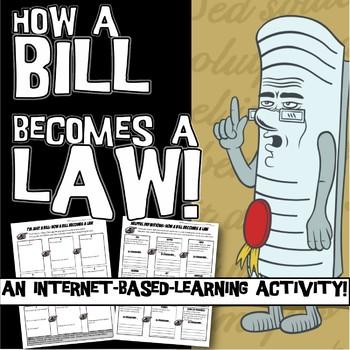 Bill to Law Internet Worksheet or Webquest