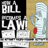 Bill to Law Internet Worksheet or Webquest
