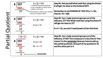 Standard Algorithm and Partial Quotient Resource