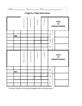 Standard Algorithm- 2 by 2 subtraction