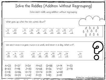 Standard Algorithm Double-Digit Addition Without Regrouping {A Skills Pack}