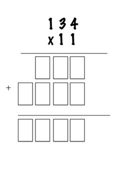 Standard Algorithm Multi Digit Multiplication - Quick Check/Exit Slip