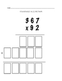 Standard Algorithm Multi Digit Multiplication - Quick Chec