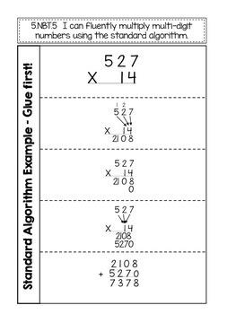 Standard Algorithm Multiplication Interactive Notebook