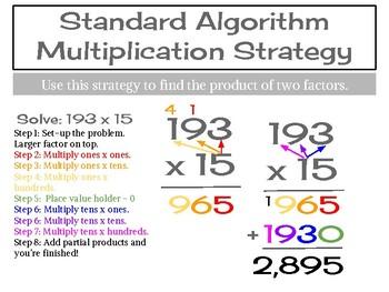 Standard Algorithm Poster