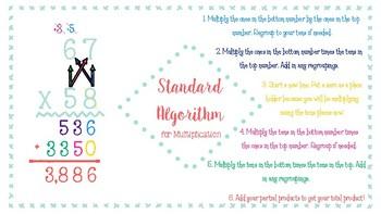 Standard Algorithm for Multiplication Anchor Chart
