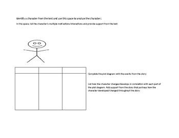 Standard Based Character Analysis Graphic Organizer