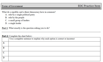 Standard Based Interactive Notebook: Forms, Types, & Sources of Gov't