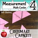 Measurement Customary Capacity Conversions Self Checking Math Center Activity
