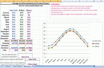 Standard Deviation Activity - Temperatures - Bluman 3-3