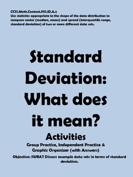 Standard Deviation: Concept Activities