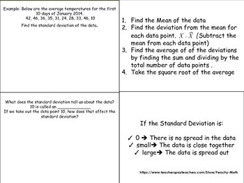 Standard Deviation Foldable
