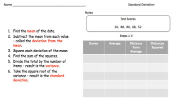 Standard Deviation (Google Form, Interactive Video Lesson & Notes!)