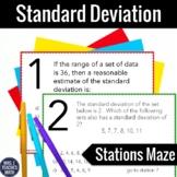 Standard Deviation Stations Maze Activity