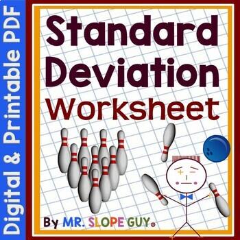 Standard Deviation Statistics Worksheet / Activity PDF MAFS.912.S-ID.1.2 Algebra
