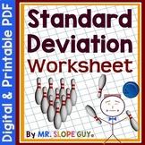 Standard Deviation Worksheet (Distance Learning)