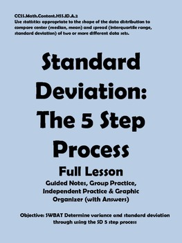 Standard Deviation: The 5 Step Process
