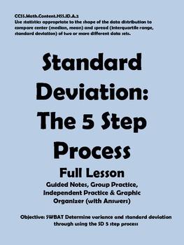 Standard Deviation: The 5 Step Process