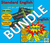 Standard English Bundle: 206 PowerPoint Slide and Snap! Ca
