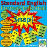 Standard English - Snap! Card Game (224 cards) and Vocabul