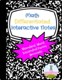 Standard, Expanded, Word Form of Decimals Differentiated Interactive Notes