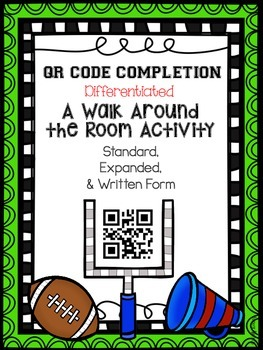 Standard, Expanded, and Written Form QR Code Activity