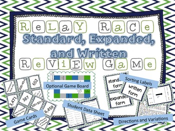 Standard, Expanded, or Written Form Place Value Relay Race Review Game