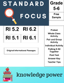 Standard Focus  ELA RI.2 Gr 5-6 Free Informational Sample