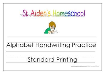 Standard Font ~ Alphabet Handwriting & Activity Book