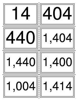 Standard Form Common Problems Task Cards (TEKS 2.2A)