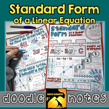 Standard Form Doodle Notes By Math Giraffe Teachers Pay Teachers