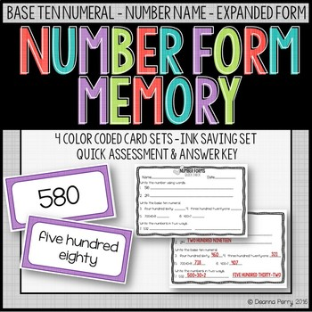 Standard Form Expanded Form Word Form Memory Numbers Within 1000