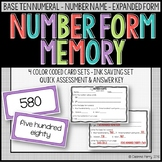 Standard Form Expanded Form Word Form Memory Numbers within 1,000