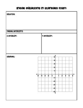 Standard Form Guided Notes