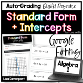 Standard Form & Intercepts- for use with Google Forms
