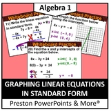 (Alg 1) Graphing Linear Equations in Standard Form in a PowerPoint Presentation