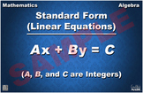 Standard Form (Linear Equations) Math Poster