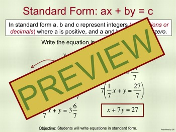 Standard Form Notes and Practice