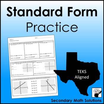 Standard Form Practice (A3A, A3C)