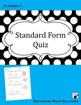 Standard Form QUIZ