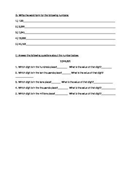 Standard Form, Standard Notation, Expanded Form, Word Form