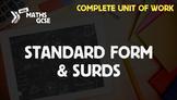 Standard Form & Surds - Complete Unit of Work