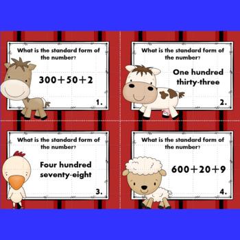 Standard Form Task Cards