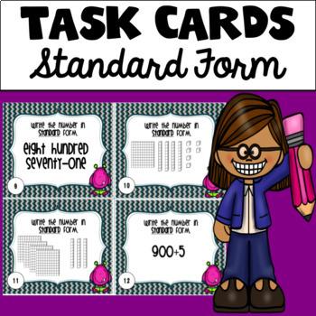 Standard Form Task Cards (Hundreds Edition)
