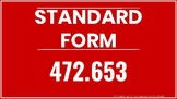 Standard Form Word Form Expanded Form Posters Resizable PD