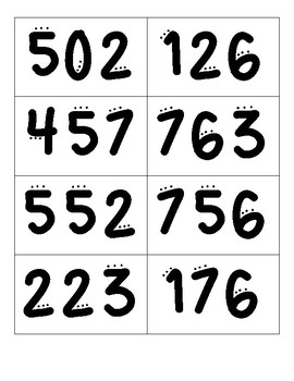 Standard Form, Expanded Form and Unit Form Matching Math Game (3-digit)